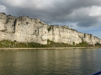 Dramatic cliffs along the Rhone River
