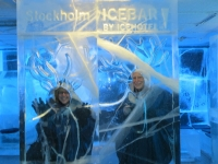 Our photo-op at the ICEBAR Stockholm