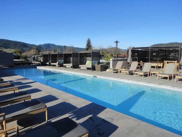 Rooftop Pool At Bardessono Yountville California