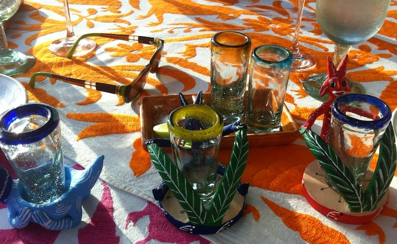 Place Setting for Tequila Tasting at Las Ventanas