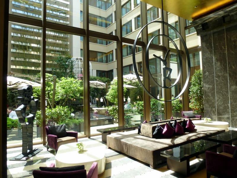Lobby at the Mandarin Oriental Paris