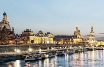 Dresden on the Elbe Rive in Saxony