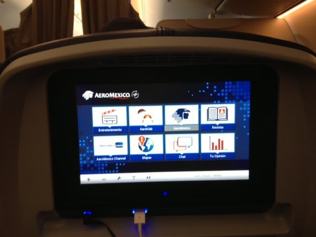 In-flight entertainment system on Aeromexico