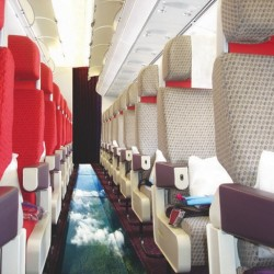 Would you want to fly a glass-bottomed plane?