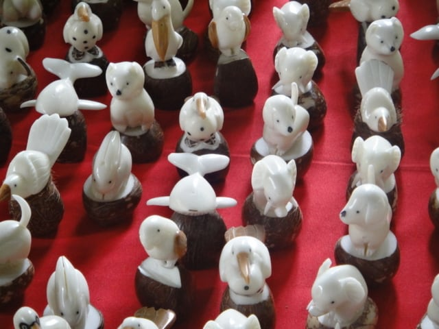 Vegetable ivory carvings