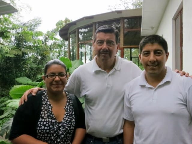 Carolina, her father and Diego
