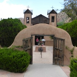 Getting holy dirt from Chimayo