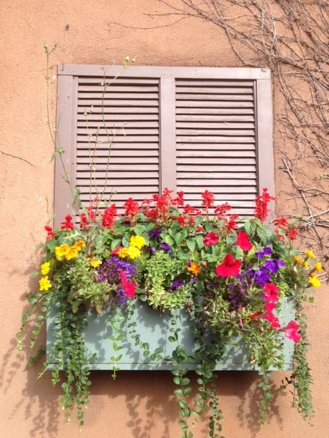 A picturesque window in downtown Santa Fe