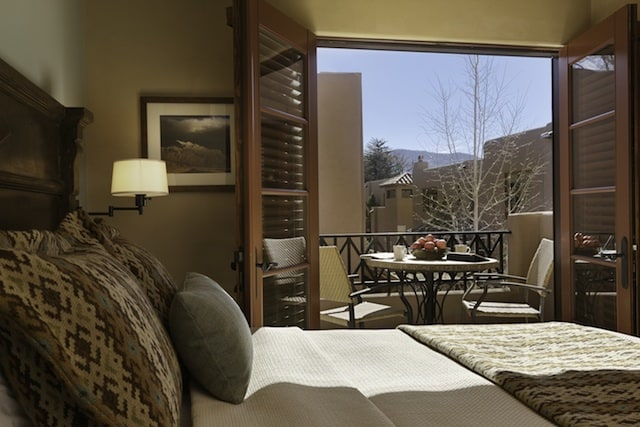 View from the Master Bedroom at El Corazon de Santa Fe (Credit: Fairmont)