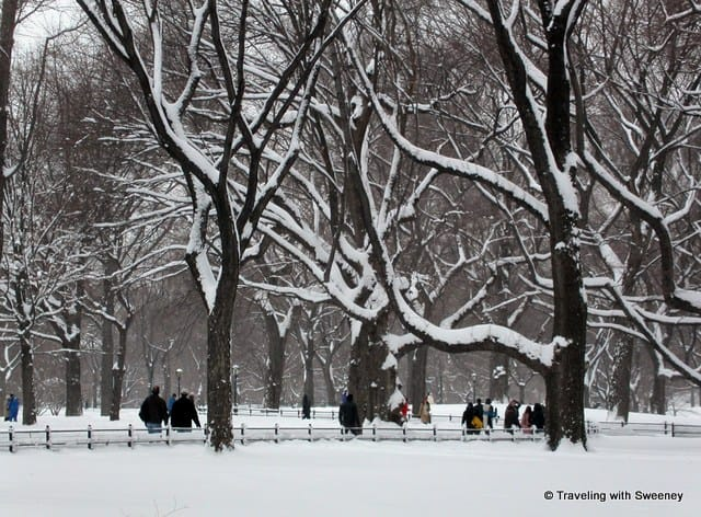 Central Park walking in the snow Walking Cities: Where travel writers walk