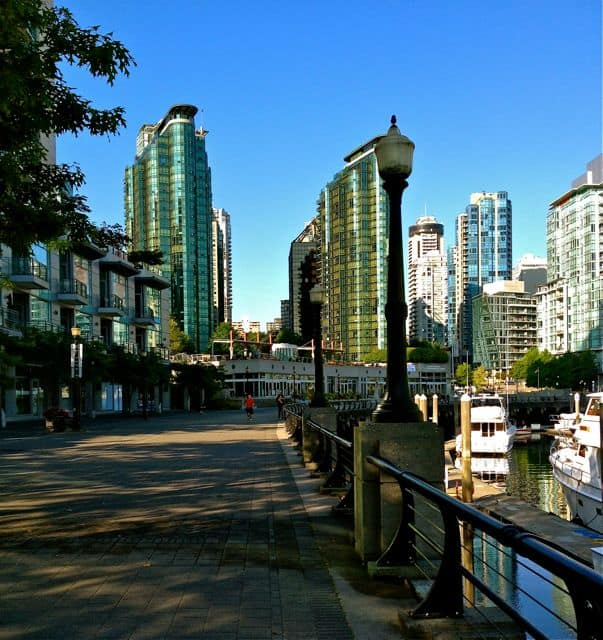 TW Coal Harbour Vancouver Walking Cities: Where travel writers walk