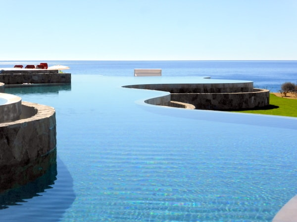 My view at the infinity pool at Secrets Puerto