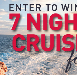 Win a 7-night cruise for two (contest ended)