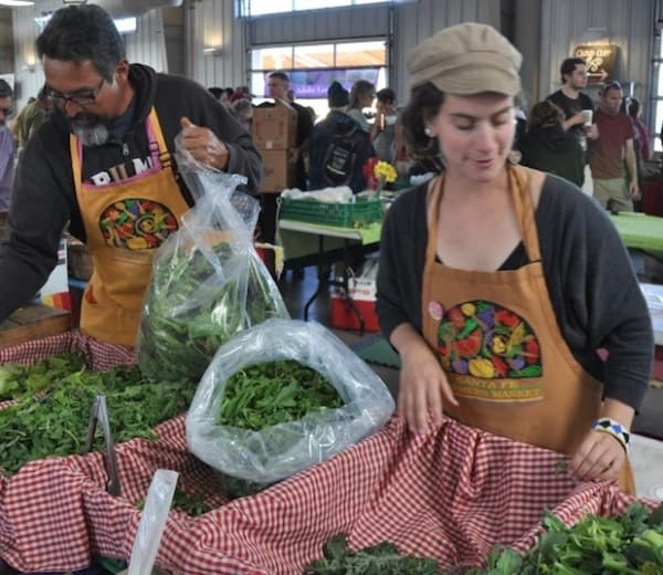 Romero Farms has lots of fresh greens 620 Great markets travel bloggers love to visit