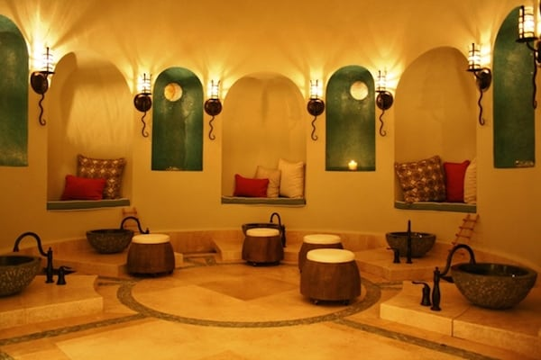 Setting for the foot ritual (Credit: Capella Pedregal)