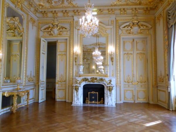 A gilded ballroom
