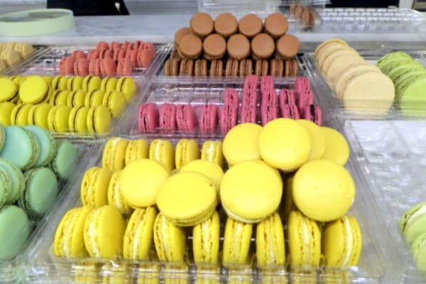 Mouth-watering macarons at Ladurée