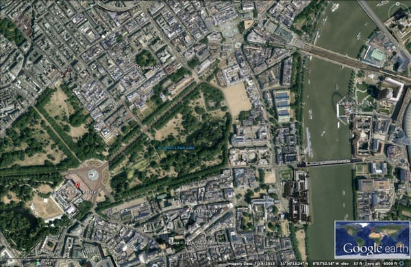 Google Earth over London