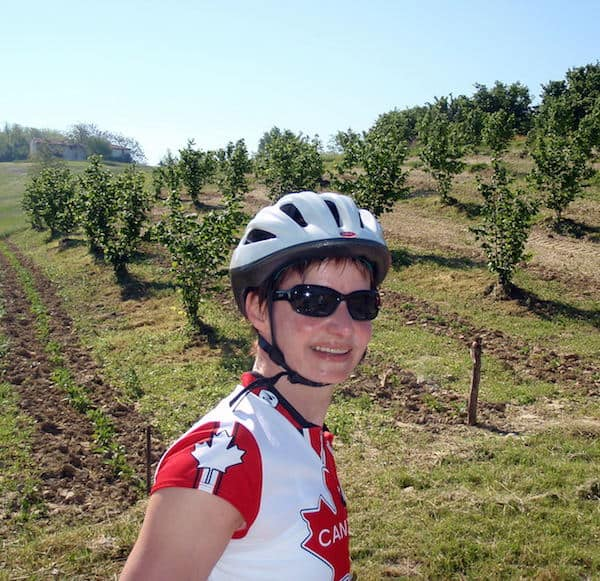 Blogger/cyclist Sue Slaght