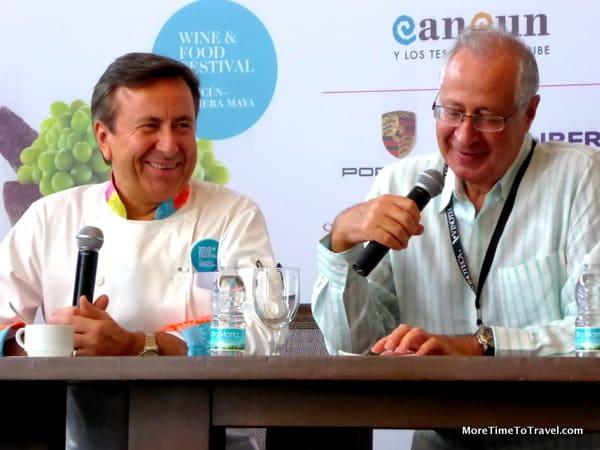 Chef Daniel Boulud and David Amar at Cancun-Riviera Maya Wine & Food Festival