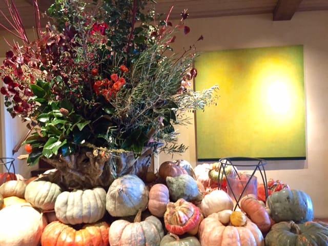 Thanksgiving display at Auberge du Soleil, Napa