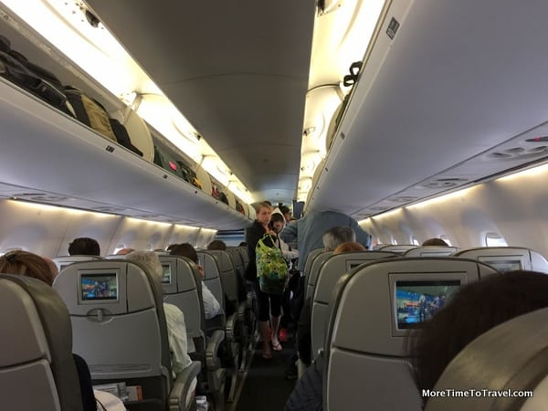Interior of the JetBlue Embraer 190