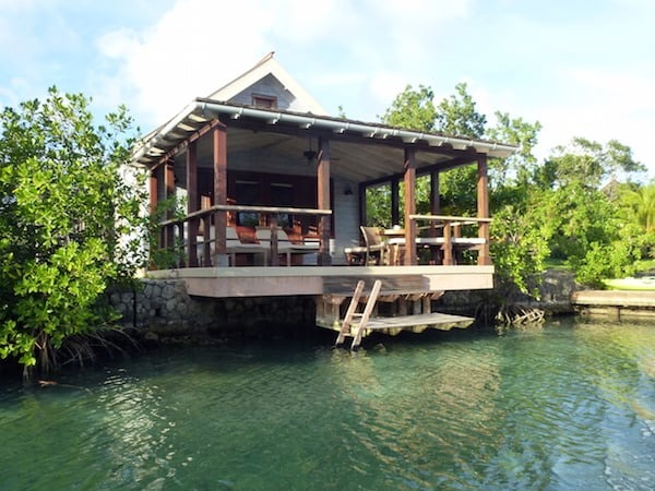 A lagoon cottage at Goldeneye