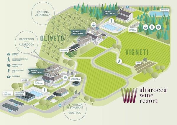 Map of the Resort (Credit: Altarocca Wine Resort)