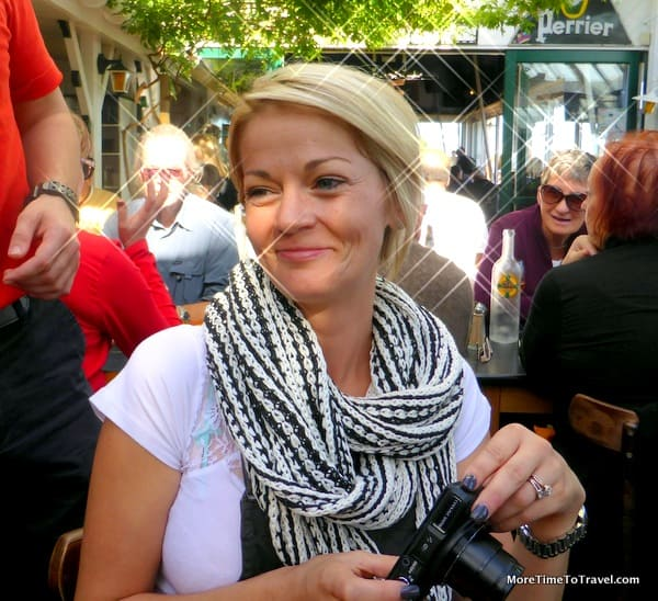 """""""Scarfed"""" Shoshanna Golden, one of the passengers on our last river cruise"""