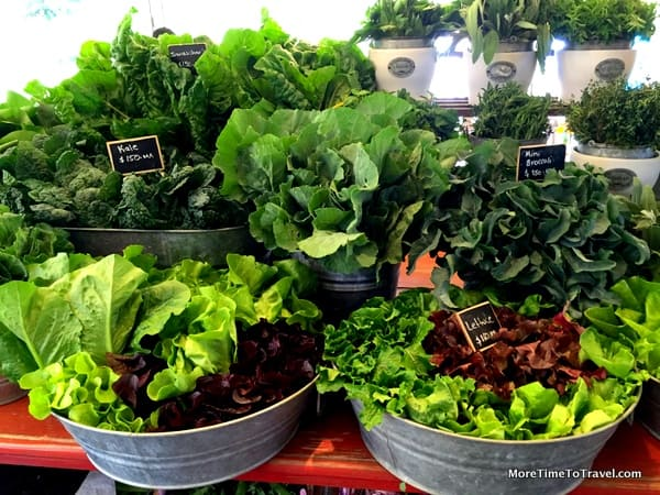 Greens so fresh they are fragrant at Flora Farm