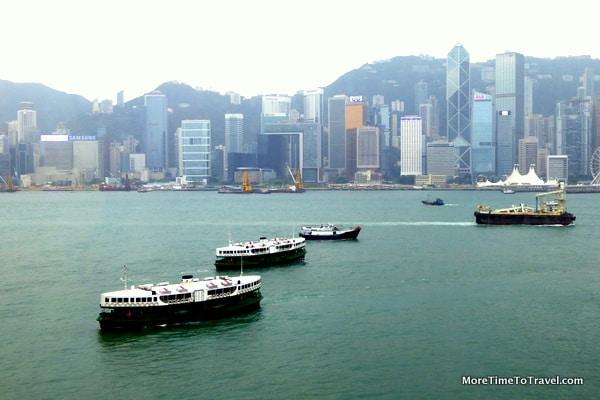 Star Ferries in Hong Kong Harbor