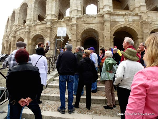Travelers on a Grand Circle cruise in Arles
