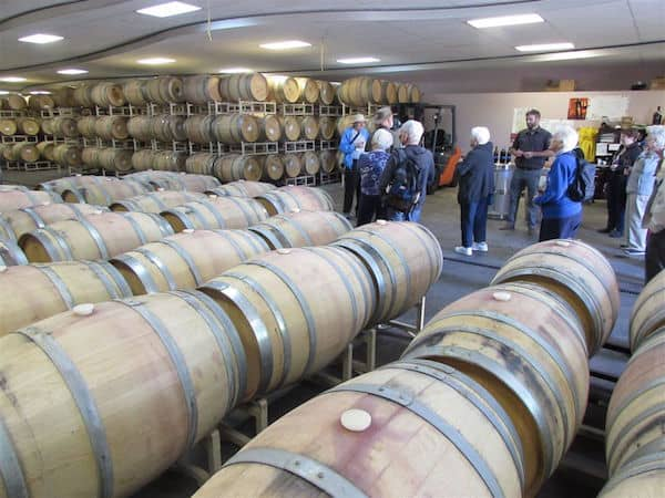 Aging room at Basel Cellars