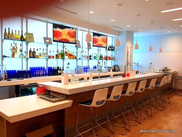 Bar at Airspace Lounge at JFK where you can also order food