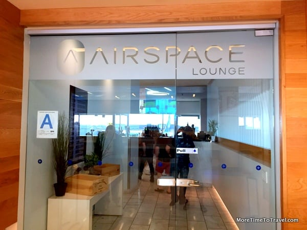 Entranceway to the Airspace Lounge at JFK