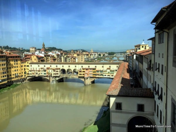 View of the Ponte Vecchio from the Uffizi Gallery