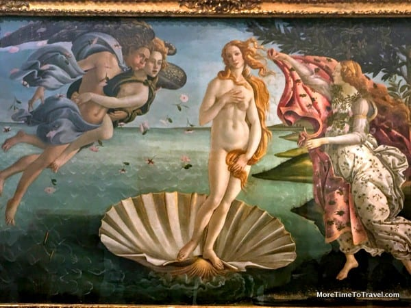 Birth of Venus in the Uffizi Gallery