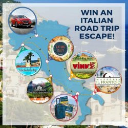 Enter to wIn a 7-night Italian Road Trip Escape (ending August 6, 2016)