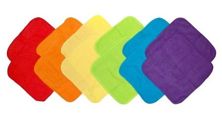 Colorful washcloths available at Target