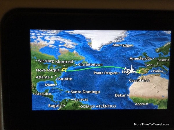 Map display on TAP Portugal