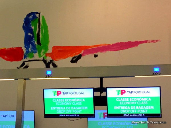 TAP Portugal check-in counter at JFK