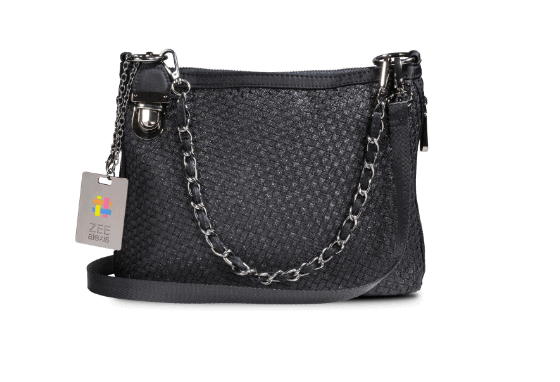 Zee Alexis Beacon Shoulder Bag in Black Metallic