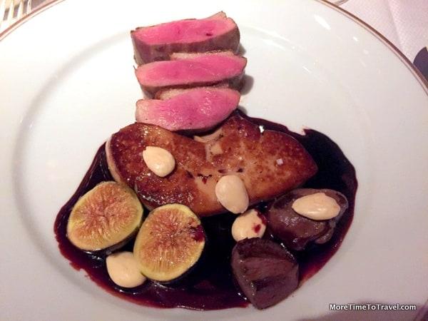 OMG Canard et cerises (duck, mission figs, foie gras, black olives)