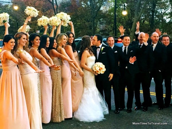 Bridal party stops traffic on Central Park South
