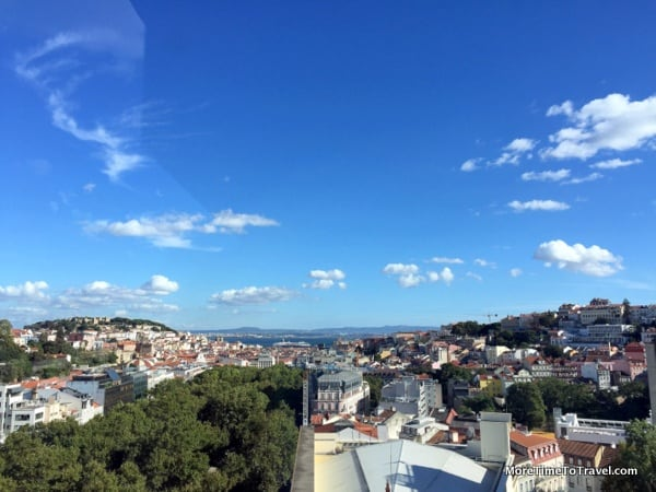 Lisbon from the rooftop of the Tivoli Lisboa Hotel