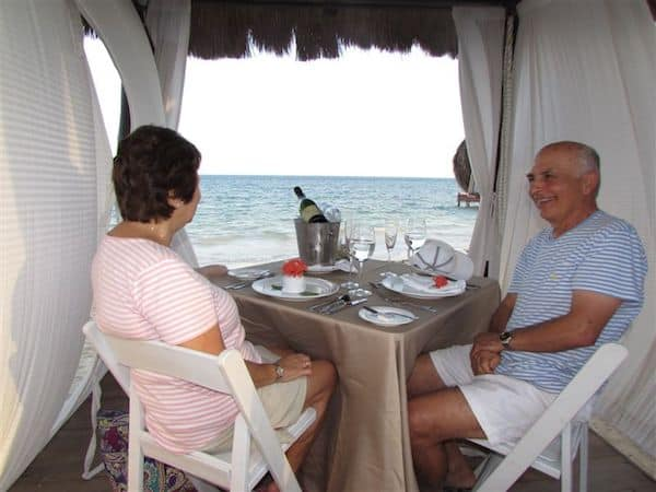 Private dinner on the beach at Secrets Capri