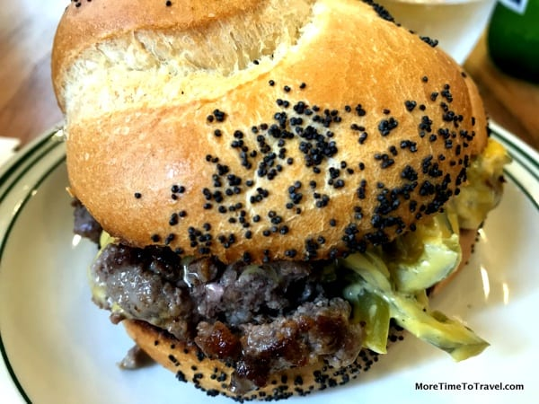 Chopped cheese sandwich at White Gold Butchers