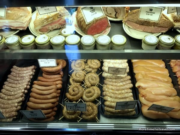 Sausages and charcuterie and White Gold Butchers