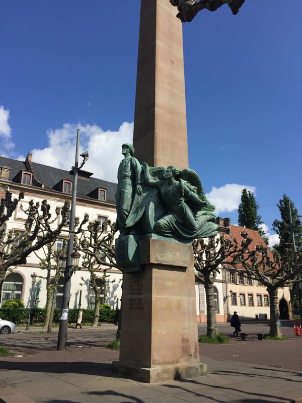 War monument for Maréchal Leclerc at the square Place Broglie in Strasbourg