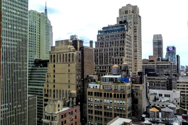 City view from our window at the Hampton Inn Times Square Central